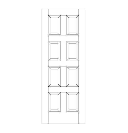 8-Panel Wood Door (DR8000)