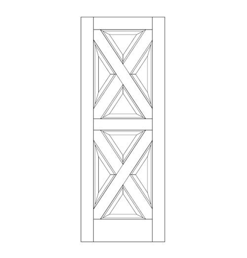 8-Panel Wood Door (DR8040)