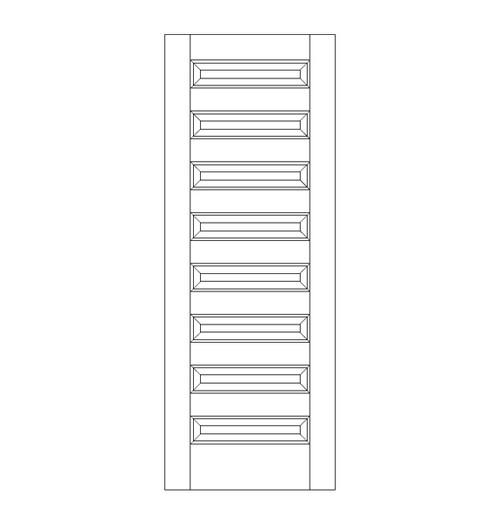 8-Panel Wood Door (DR8090)