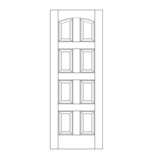 8-Panel Wood Door (DR8100)