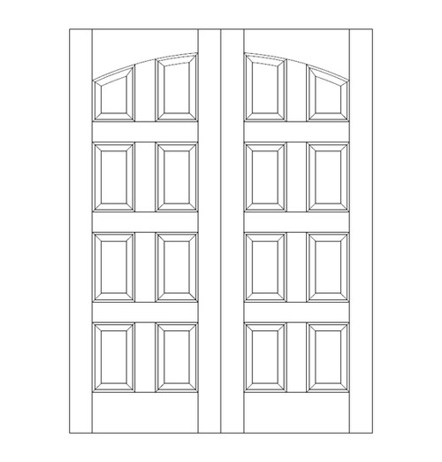 8-Panel Wood Door (DR8100CA)