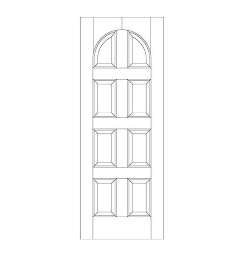 8-Panel Wood Door (DR8200)
