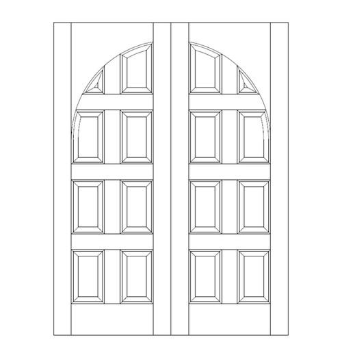 8-Panel Wood Door (DR8200CA)