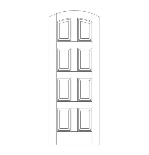 8-Panel Wood Door (DR8500)