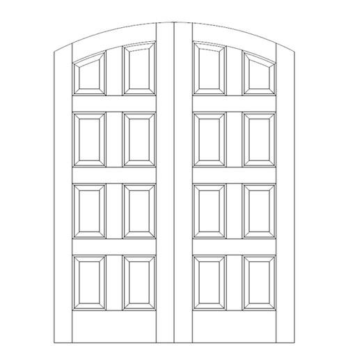 8-Panel Wood Door (DR8500CA)