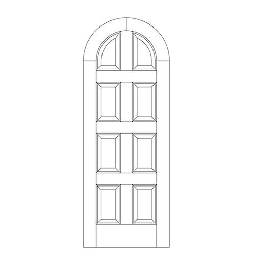 8-Panel Wood Door (DR8600)