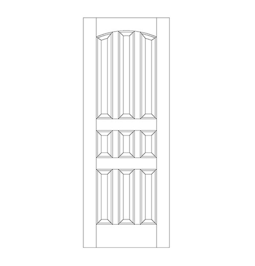 9-Panel Wood Door (DR9120)
