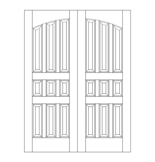 9-Panel Wood Door (DR9120CA)