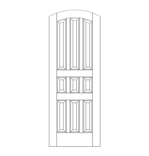9-Panel Wood Door (DR9520)