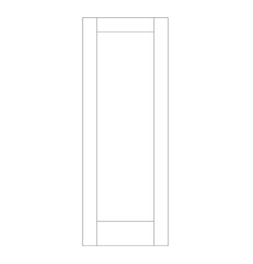 Flat Panel Wood Door (DM1000)