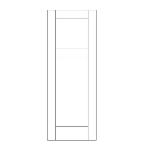 Flat Panel Wood Door (DM2000)