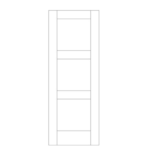 Flat Panel Wood Door (DM3000)