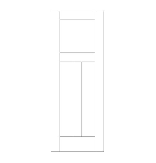 Flat Panel Wood Door (DM3010)