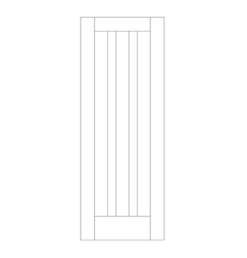 Flat Panel Wood Door (DM3020)