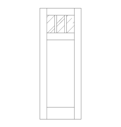 Flat Panel Wood Door (DM4010)