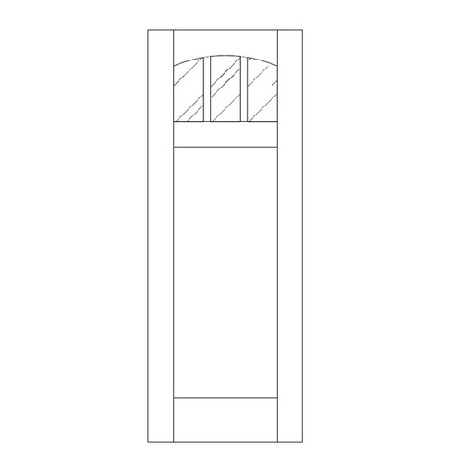 Flat Panel Wood Door (DM4110)
