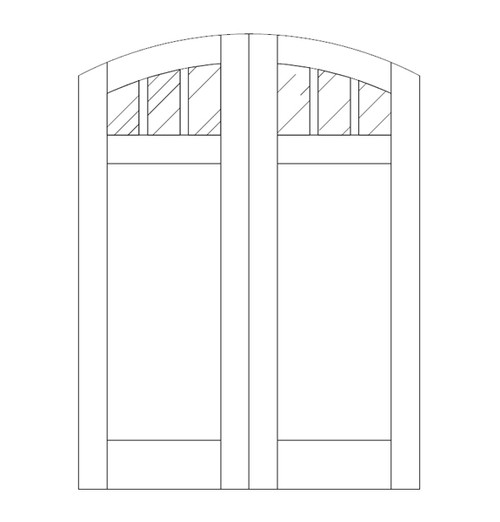 Flat Panel Wood Door (DM4510CA)