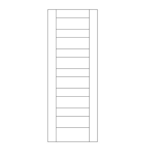 Flat Panel Wood Door (DM6000)