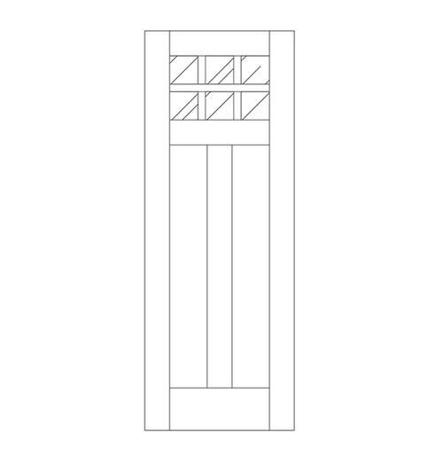 Flat Panel Wood Door (DM8000)