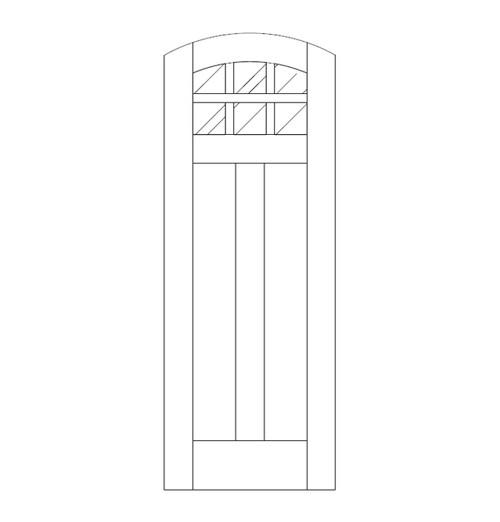 Flat Panel Wood Door (DM8500)