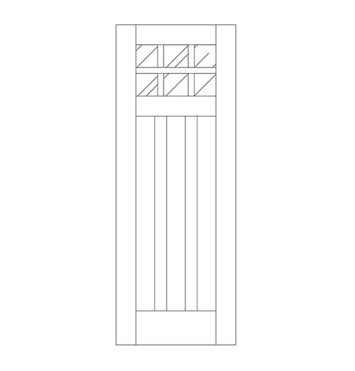 Flat Panel Wood Door (DM9000)