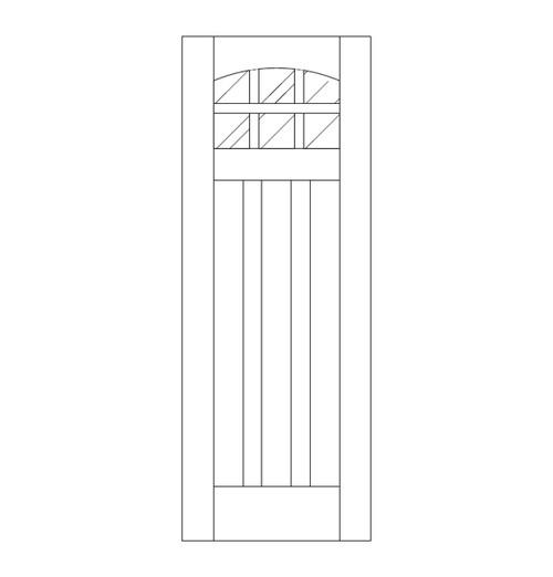 Flat Panel Wood Door (DM9100)