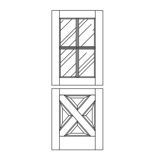 Wood Dutch Door (DD8090)