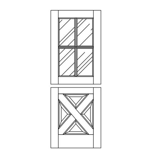 Wood Dutch Door (DD8090)