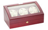 Watch Winder for Six | Diplomat Estate Cherry Wood Finish Six Watch Winder