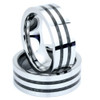Tungsten Band - Double Carbon Fiber Inlay