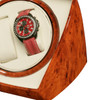Diplomat Economy Burl Wood Finish Double Watch Winder With Smart Internal Bi-Directional Timer Control