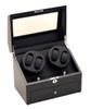 Quad Watch Winders | Diplomat Gothica Quad Watch Winder (Black Wood)