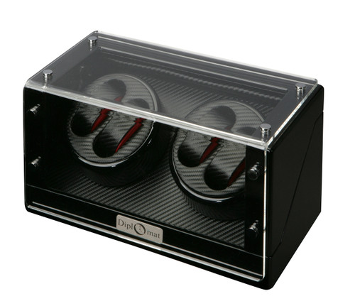 Watch Winders | Diplomat Gothica Quad Watch Winder (Black Wood)