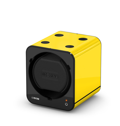 BOXY FANCY Brick Single Watch Winder - Yellow (Full)