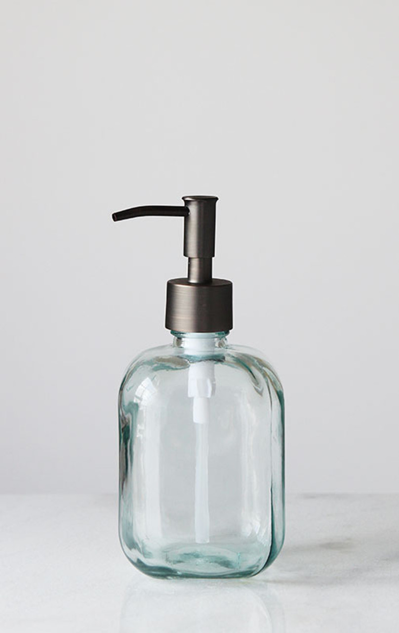 Soap Dispensers Cubo Square Round Recycled Glass Soap