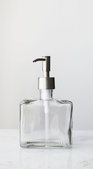 Little Urban Square Shaped Recycled Glass Soap Dispenser