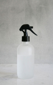 Apothecary Frosted Glass Mist Bottle with Black Mist Nozzle