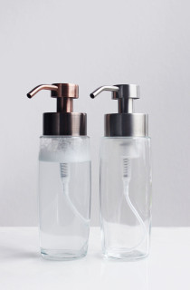 Large Glass Foam Soap Dispenser with Stainless Pump