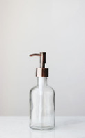 Small Recycled Glass Clear Soap Dispenser