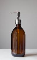Savon Amber Glass Soap Dispenser