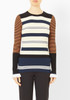 Opening Ceremony Striped Rib Knit Sweater