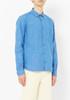 You Must Create Blue Linen Curtis Shirt
