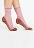 Darner Pink & Mocha Contrast Mesh Sock