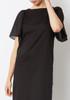 Demylee Black Flutter Sleeve Lewis Dress