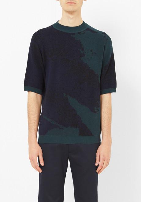 DDUGOFF Collage Short Sleeve Sweater