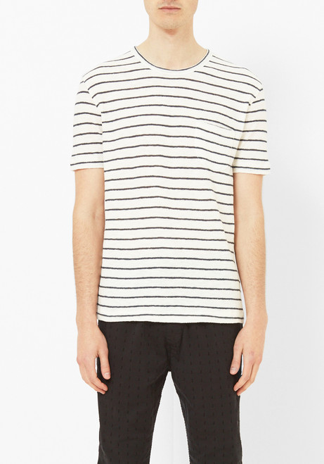 You Must Create Striped Crepe Tee