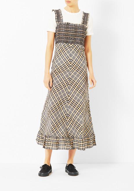 Ganni Smocked Charron Dress