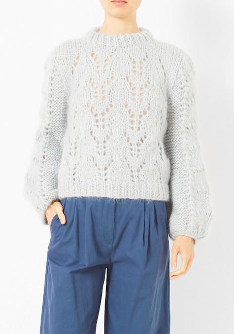 Ganni Pearl Blue Faucher Sweater
