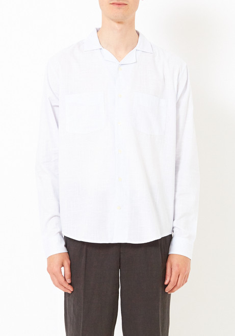 L'Homme Rouge Striped Worker Shirt