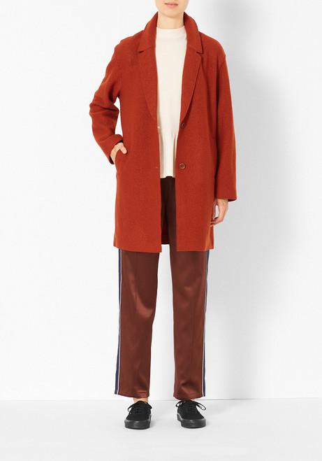 You Must Create Orange Felt Wool Coat